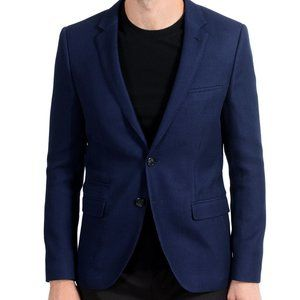 "Hugo Boss ""Artyn"" Mens Wool Blue Blazer Sport Coat"